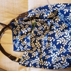 Marshalls Bags - Navy Floral Purse with Matching Wallet